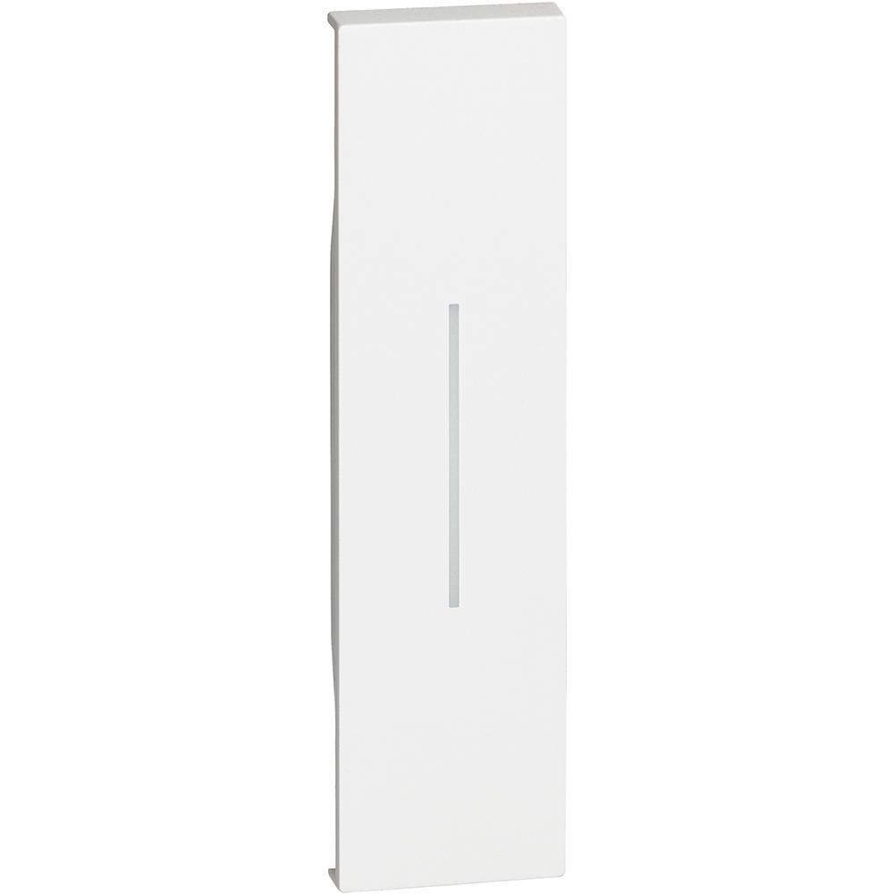 BTICINO - Лицев панел ключ/бутон 1 мод. цвят Бял Living Now KW01