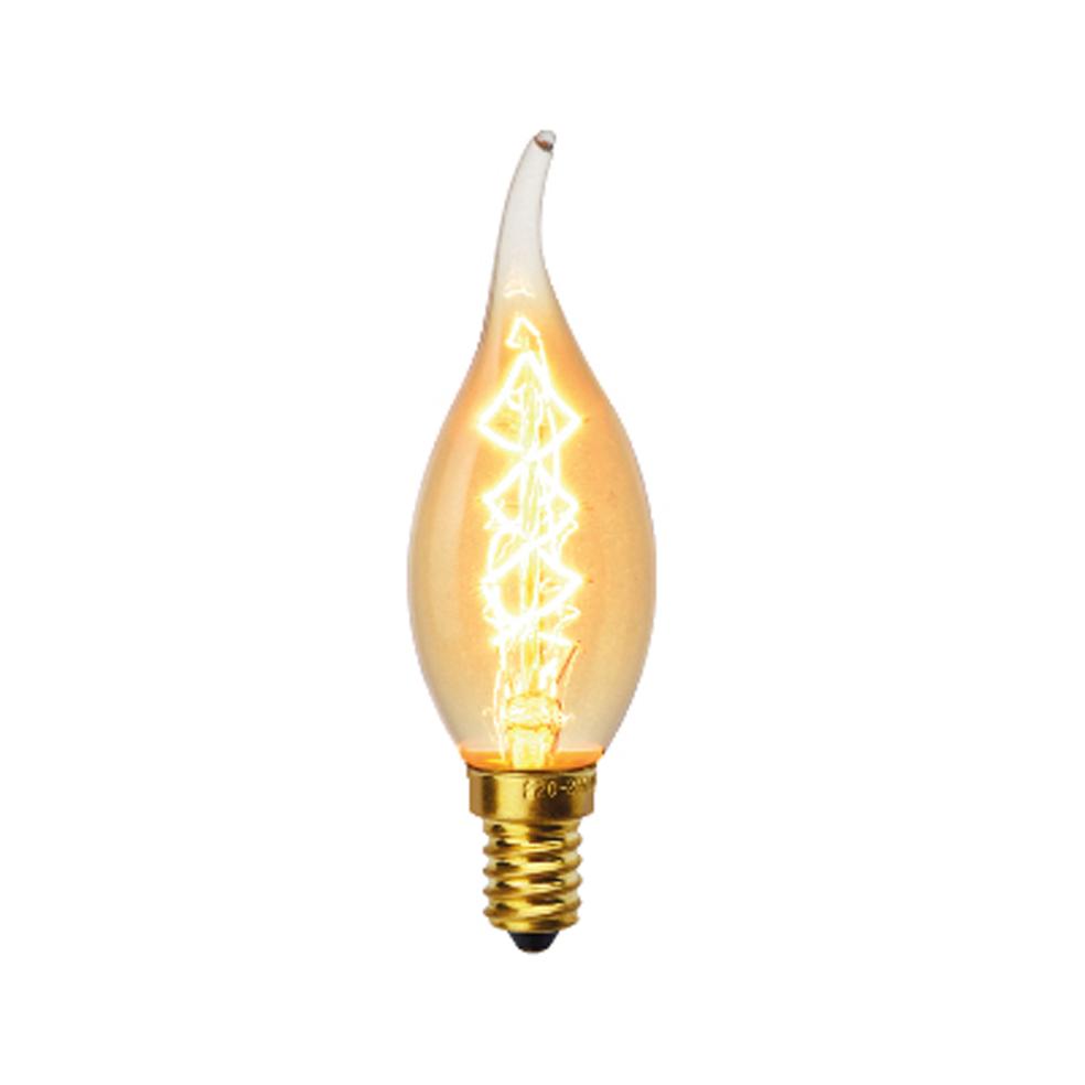 VITO - Декоративна филаментна лампа пламък Decoart C35T 40W E14 VT 1010970