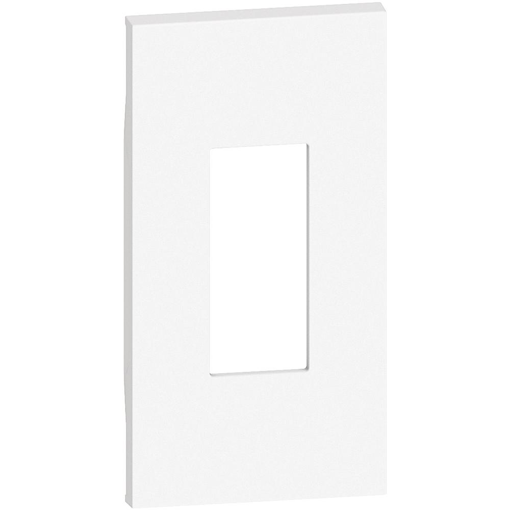 BTICINO - Лицев панел за единични розетки RJ45/LED лампа K4381 2 мод. цвят бял Living Now Bticino KW07M2