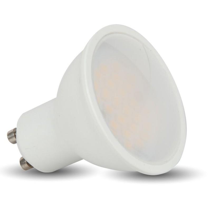 V-TAC - LED Крушка 3W GU10 Пластик 3000K SKU: 7126 VT-1933, 4000K-7127, 6400K-7128