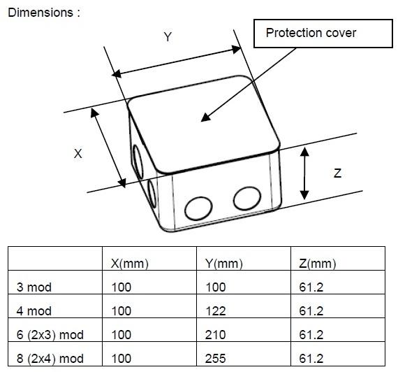 Legrand 4 Module Metal Flush Mounting Box For Concrete