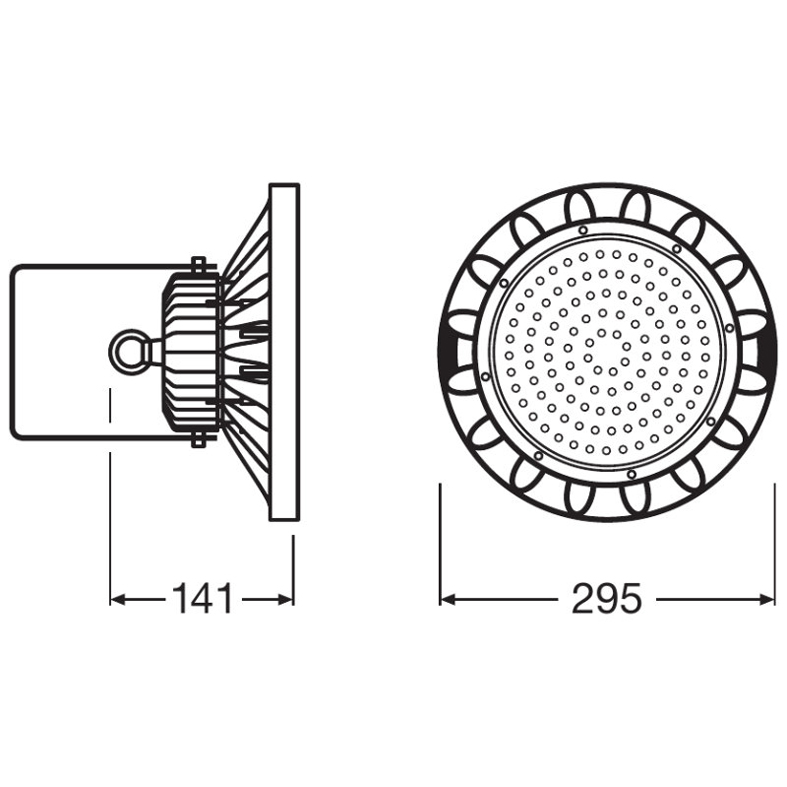 OSRAM - LED Камбана HIGH BAY LED 120W 4000K BK (2)