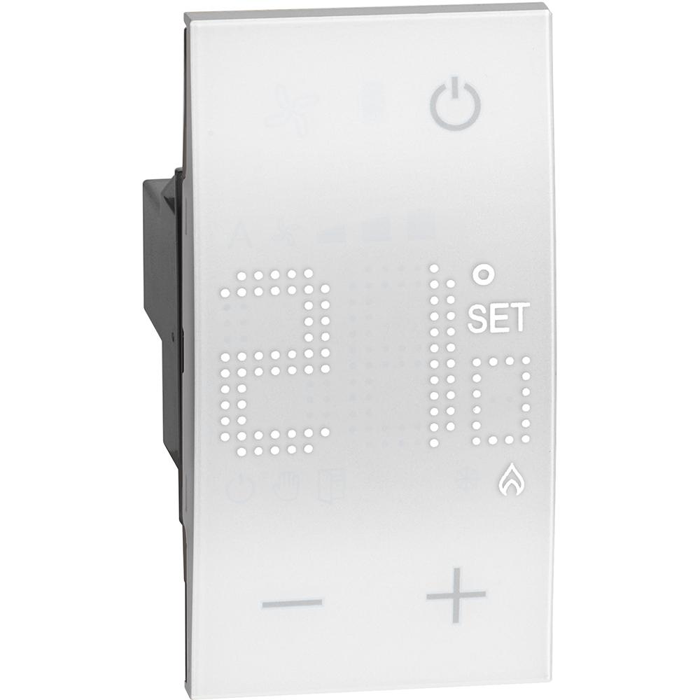 BTICINO - Стаен термостат 230V 5A 1NO 2 мод. цвят Бял Living Now Bticino KW4441