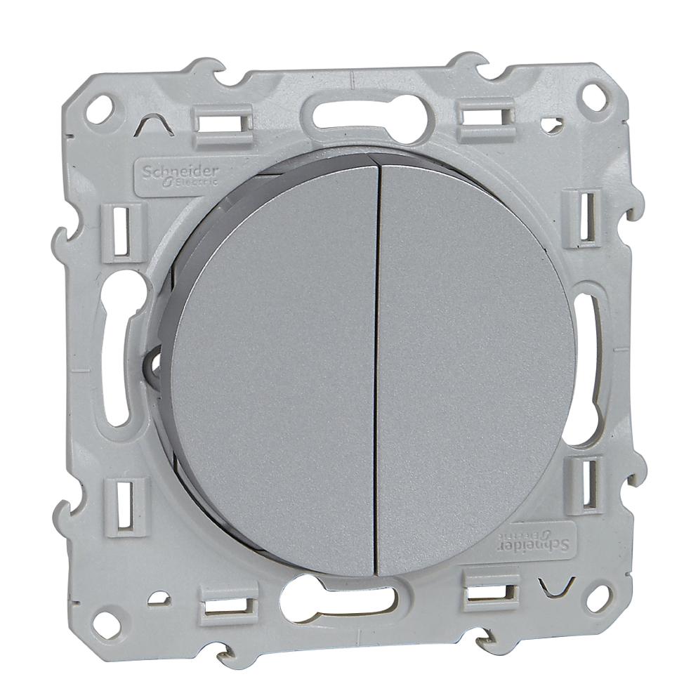 SCHNEIDER ELECTRIC - S530211 Odace - switch 2 x 1-pole 1-way - 10 AX ...