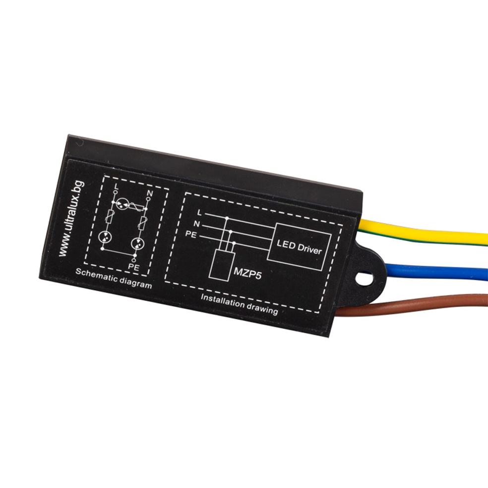 Ultralux Mzp5 Surge Protection Module For Led Lighting 5ka 277v Wiring Diagram Ac Ip67