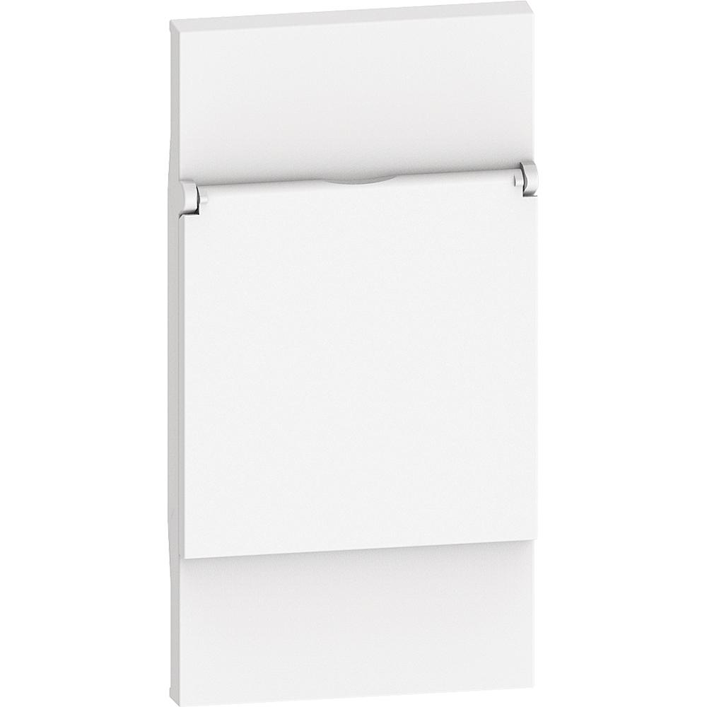 BTICINO - Лицев панел с капаче за контакт ШУКО 2 мод. цвят Бял Living Now Bticino KW04P