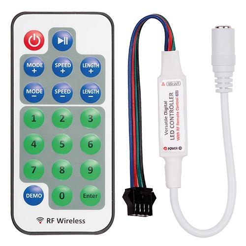 ULTRALUX - DIGC1RF RF мини контролер за дигитална светодиодна лента