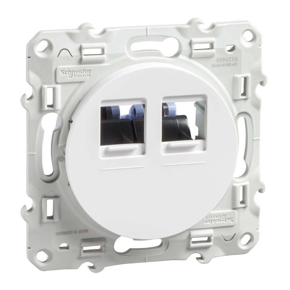 Розетка TV Schneider Electric проходная белый MGU5.463.18ZD