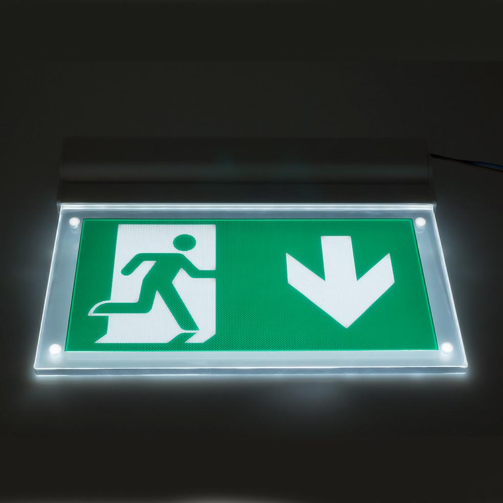 v tac 16 leds wall ceiling mount emergency led exit light ip20