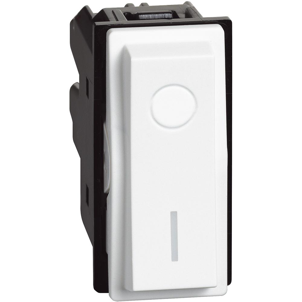 BTICINO - Ключ за бойлер 1 модул 16A /двуполюсен/ цвят Бял Living Now Bticino  KW4002