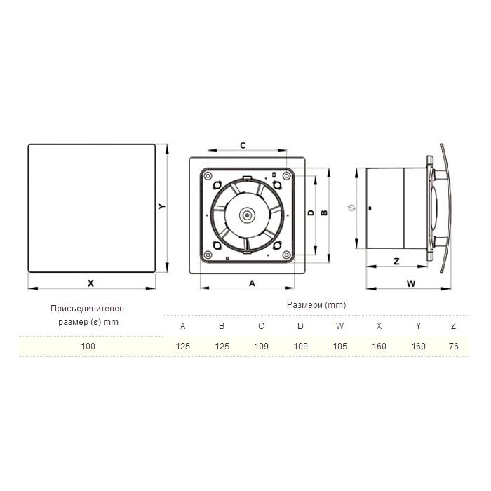 AWENTA - Вентилатор Авента, модел Escudo WEB100 (1)