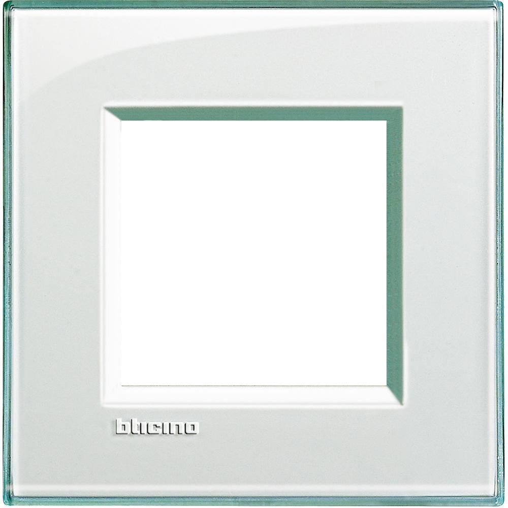 BTICINO - LNA4802KA Рамка 2М Acquamarine правоъгълна technopolymer Livinglight