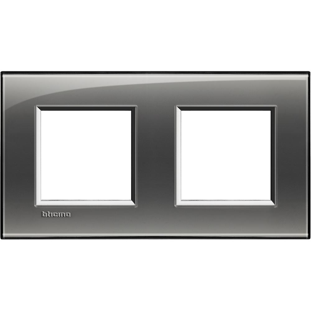 BTICINO - LNA4802M2KF Двойна рамка 2х2М London fog правоъгълна Livinglight