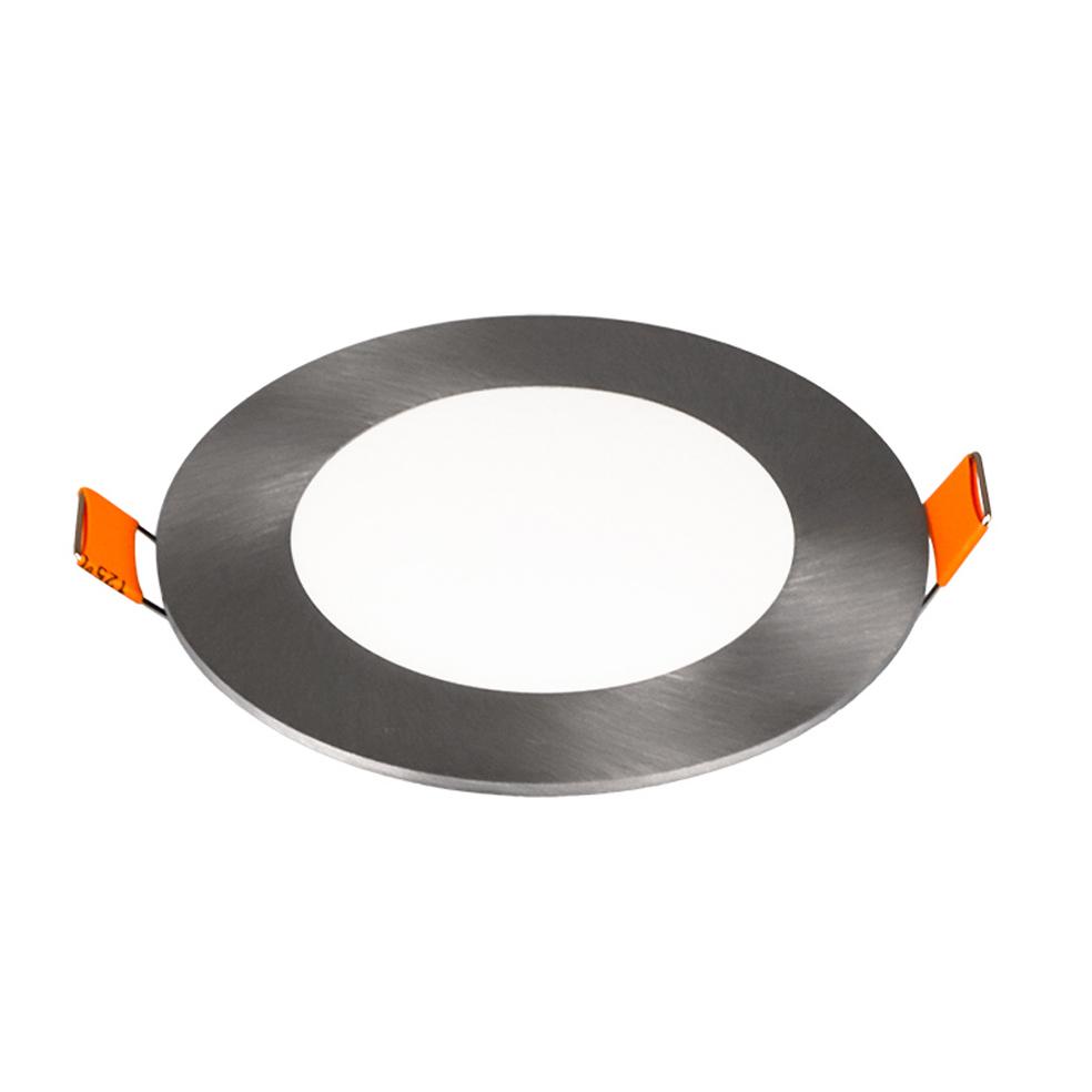 V-TAC - 6W LED Панел Сатен Никел Кръг 4000K SKU: 6338 VT-607SN