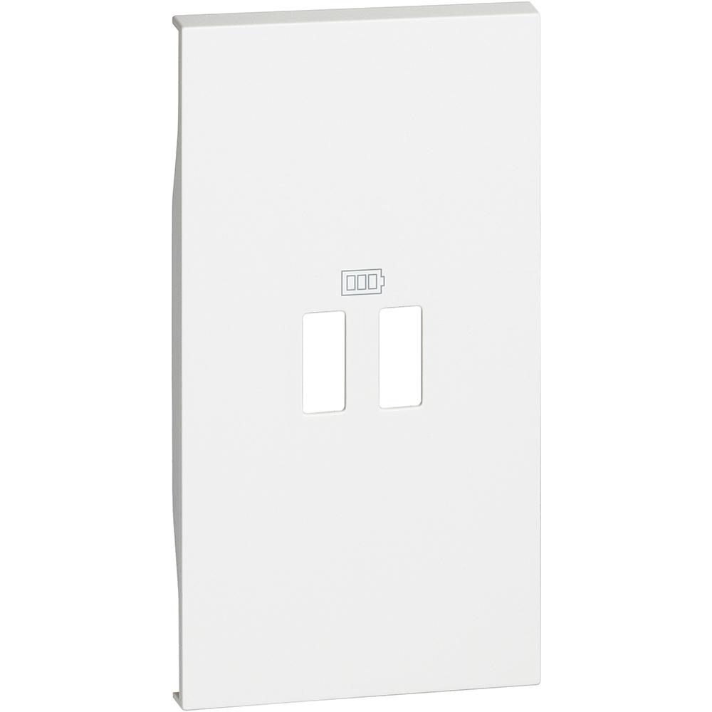 BTICINO - Лицев панел за USB розетка тип 2xA/2xC/A+C 2 мод. цвят Бял Living Now Bticino KW12C