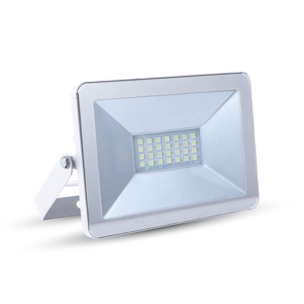 V-TAC - 10W LED Прожектор SMD Бяло Тяло 3000K SKU: 5898 VT-4611, 4500K-5899, 6000K-5900
