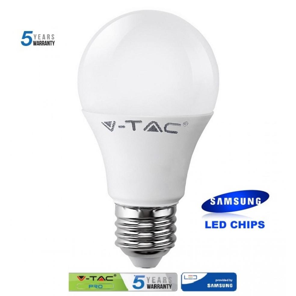 V-TAC PRO - LED Крушка - SAMSUNG ЧИП 9W E27 A58 Неутрална Светлина SKU: 157 VT-209