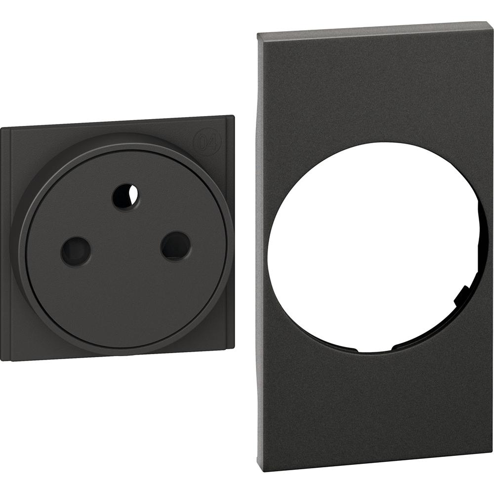 BTICINO - Лицев панел за контакт френски стандарт 2 мод. цвят Черен Living Now Bticino KG55F