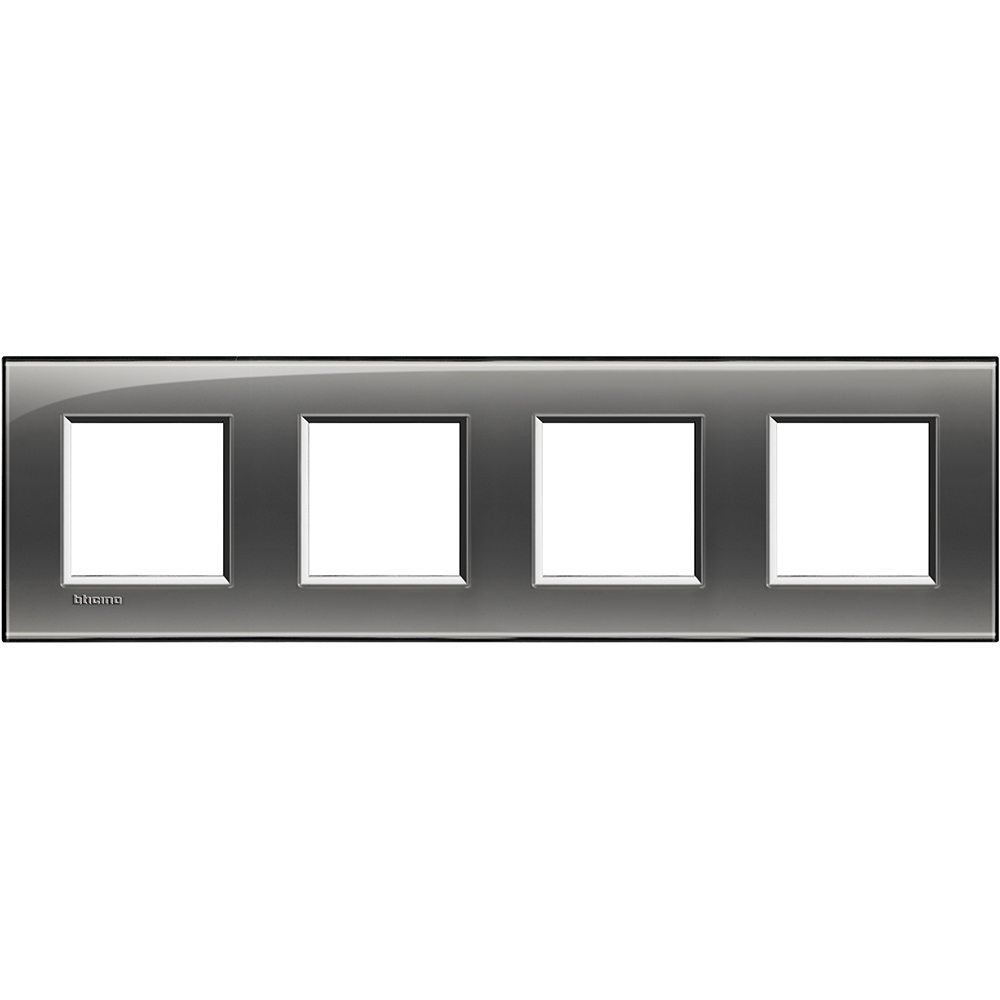 BTICINO - LNA4802M4KF Четворна рамка 4х2М London fog правоъгълна Livinglight