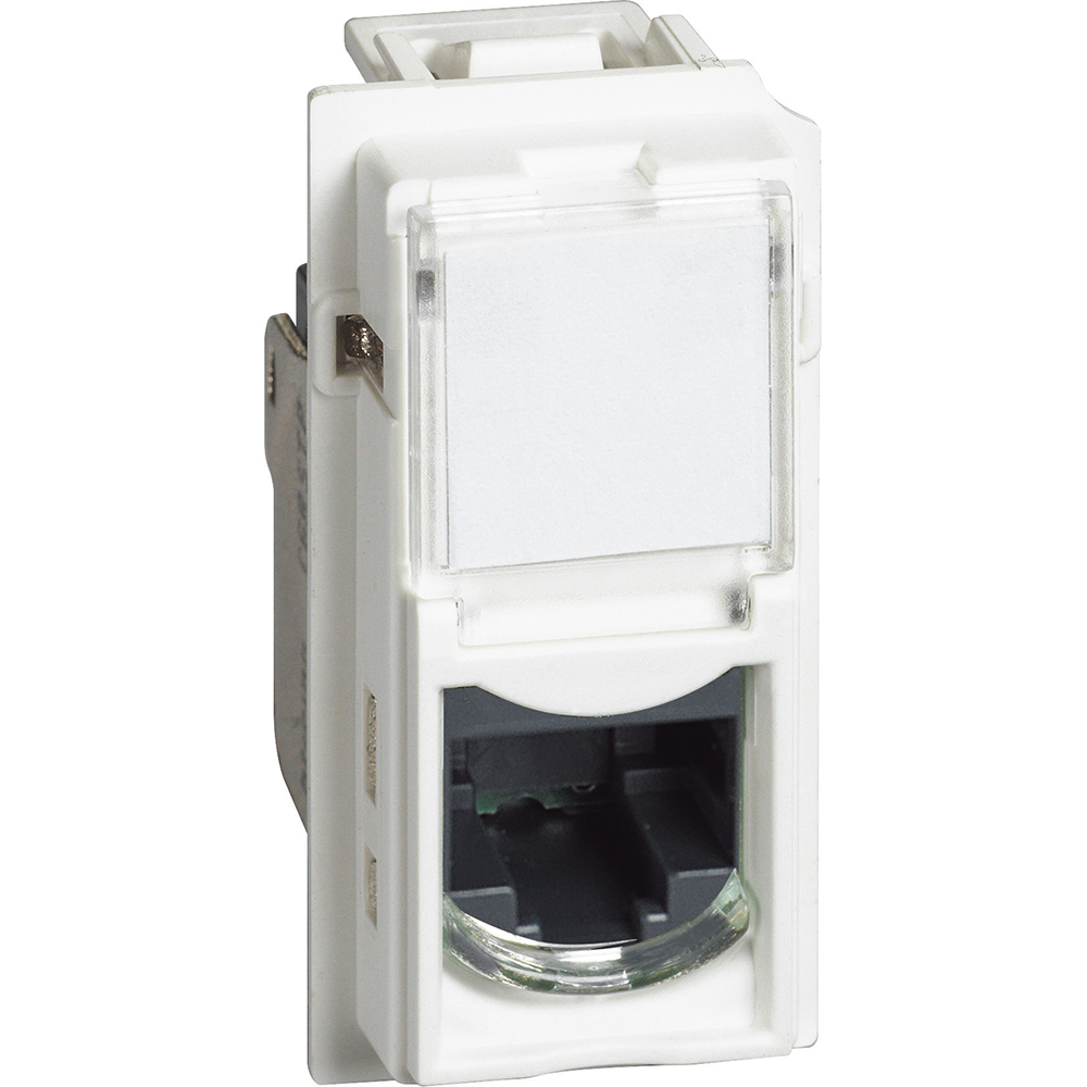 BTICINO - Розетка RJ45 cat.5e UTP конектор toolless IDC 1 мод. цвят Бял Living Now Bticino KW4279C5E