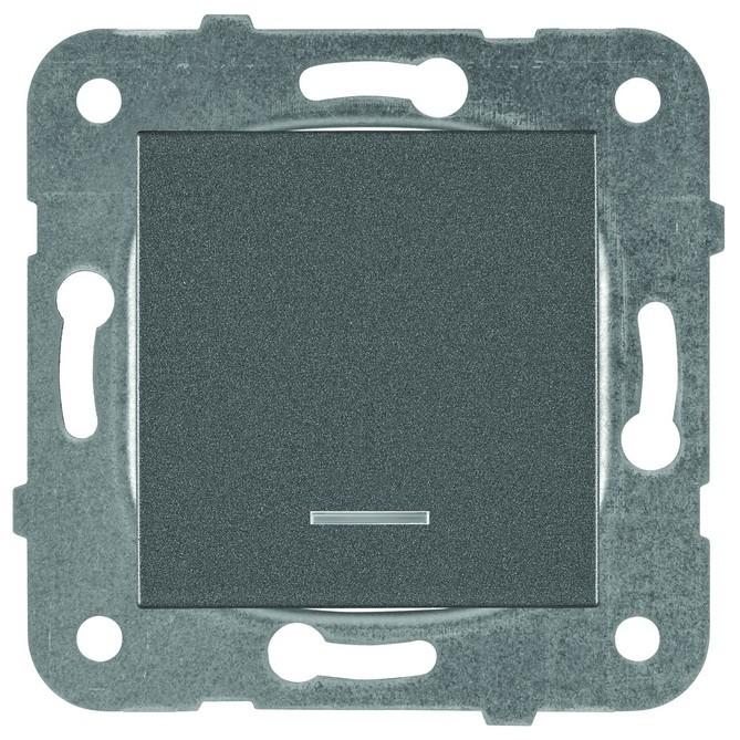 PANASONIC - Ключ девиаторен светещ Panasonic Kare тъмносив WKTT00042DG‐EU1