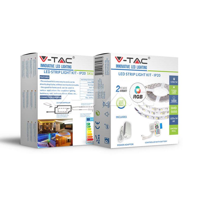 V-TAC - LED Лента RGB Сет SMD5050 60/1 RGB IP20 SKU: 2544 VT-5050