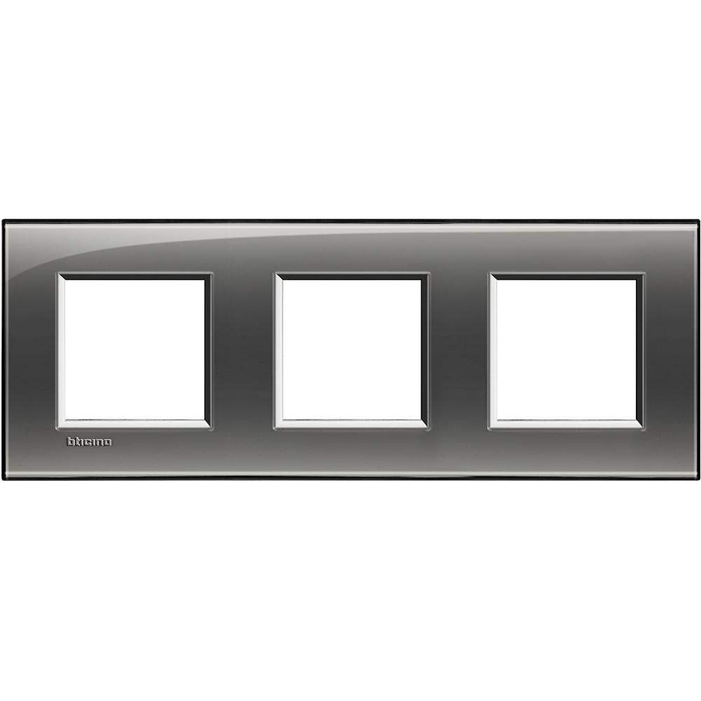 BTICINO - LNA4802M3KF Тройна рамка 3х2М London fog правоъгълна Livinglight