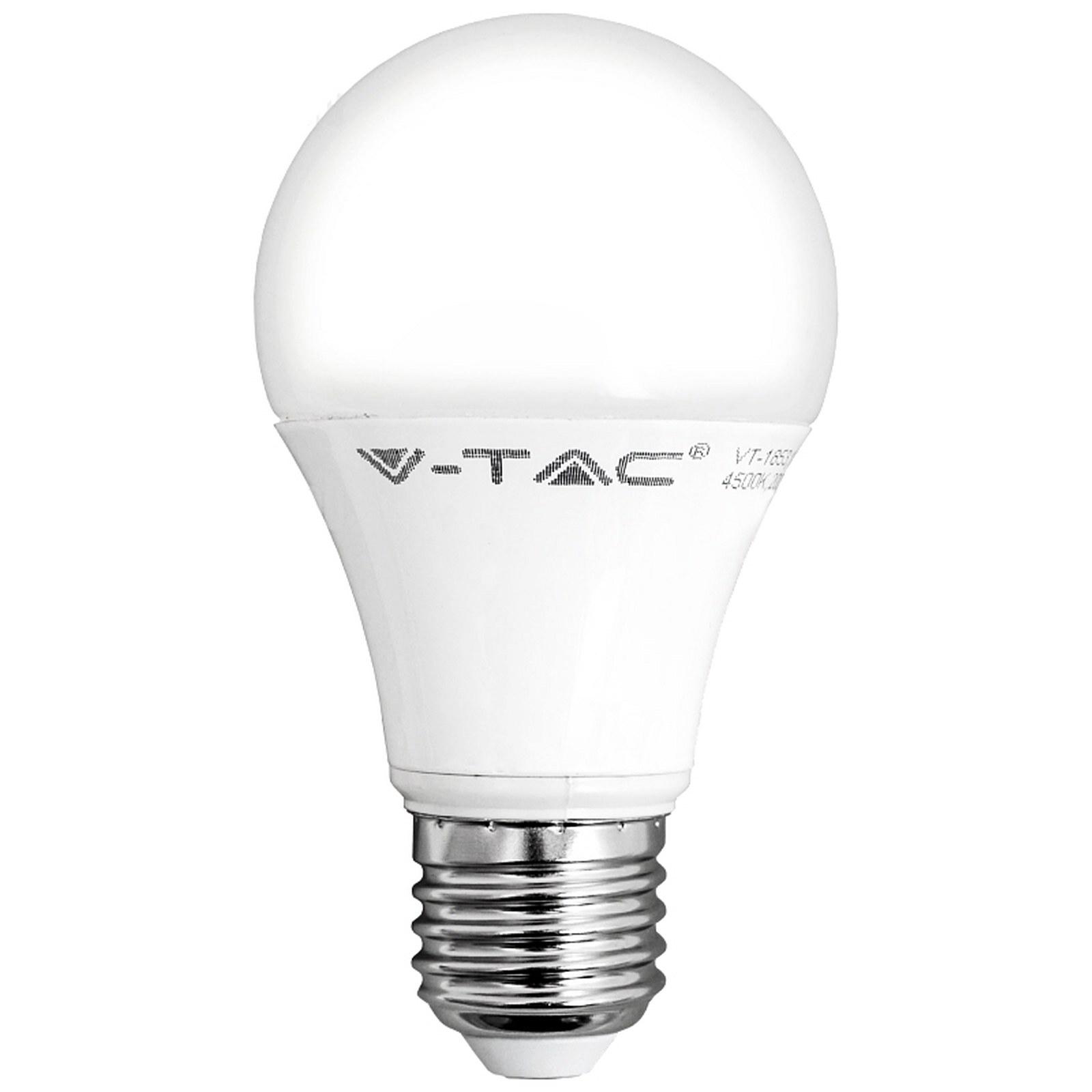 V-TAC - 4227 LED Крушка - 10W E27 A60 Термо Пластик 6400K