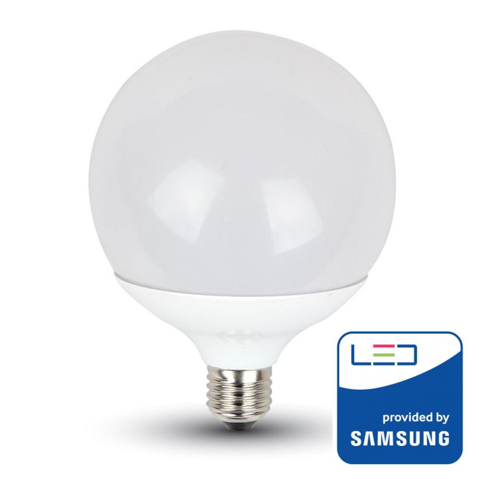 V TAC PRO   LED Bulb SAMSUNG CHIP 17W E27 G120 Plastic 3000K SKU: 225  VT 218, 4000K 226, 6400K 227