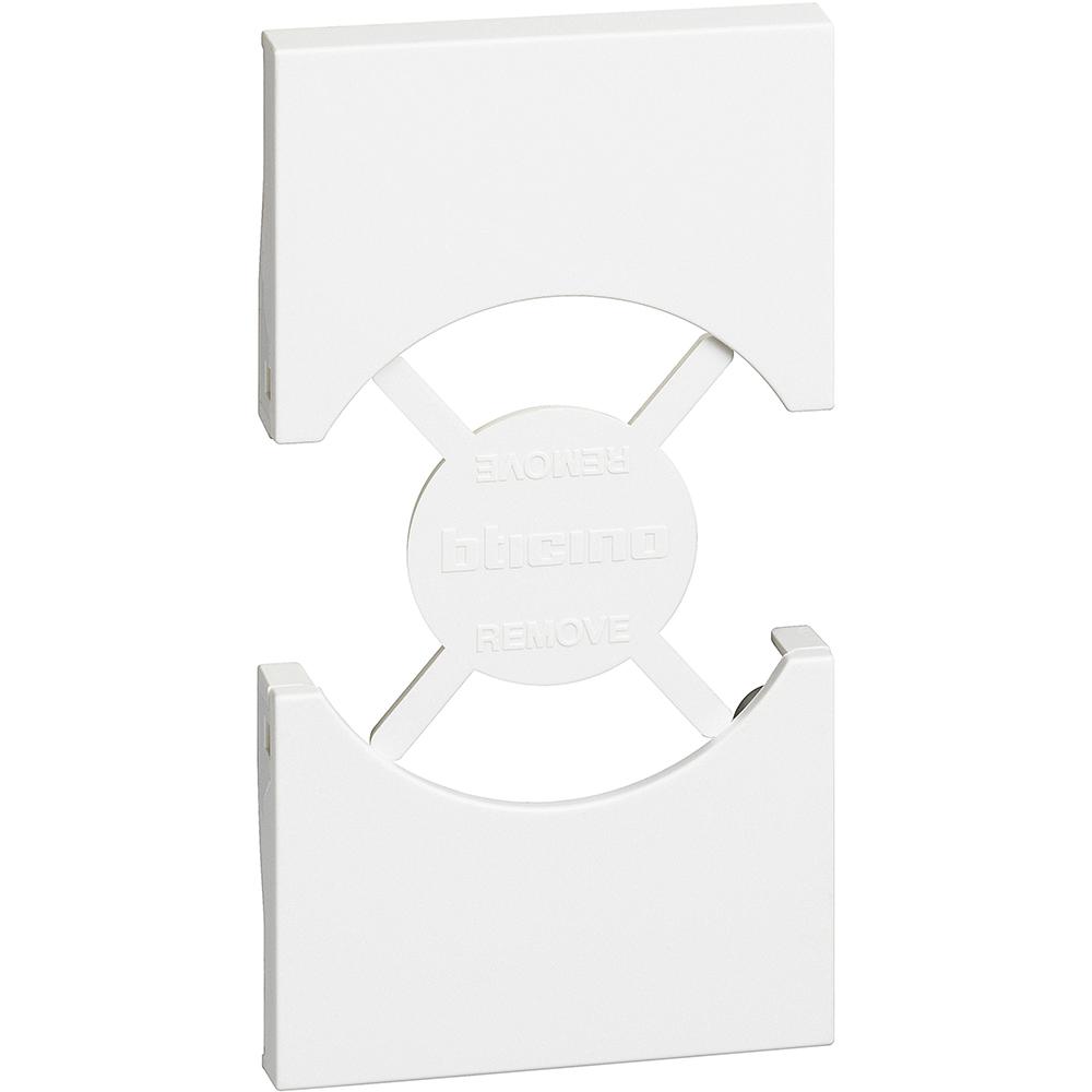 BTICINO - Лицев панел за контакт ШУКО/ИТАЛИАНСКИ стандарт 2 мод. цвят Бял Living Now Bticino KW03