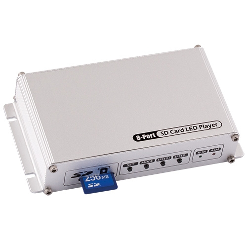 ULTRALUX - SDC8 Контролер за дигитални светодиодни модули и ленти, SD-карта, 8 портa