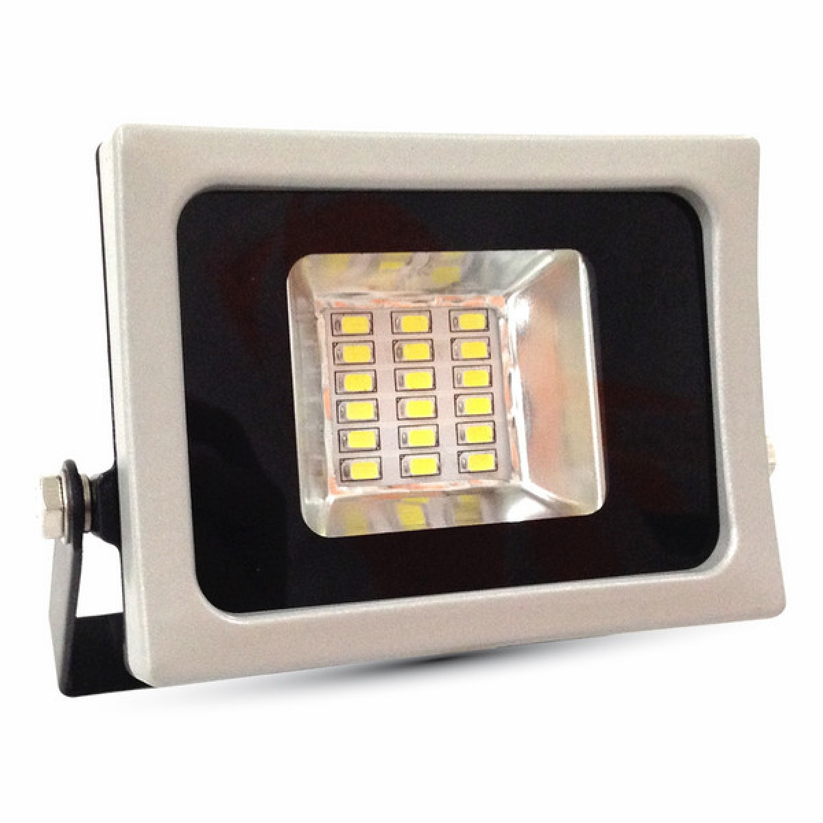 V-TAC - 10W LED Прожектор SMD черно/Сиво 4500K SKU 5721 VT-4810