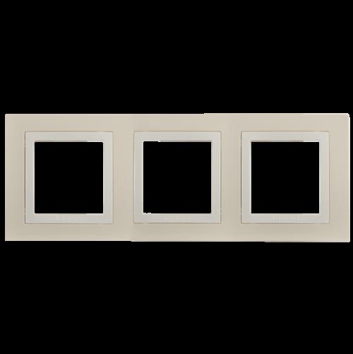 SCHNEIDER ELECTRIC - MGU2.006.559 декоративна рамка Unica Basic тройна крем