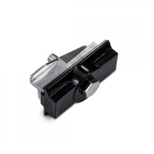 ACA LIGHTING - Адаптор за монтиране за трифазна шина за вграждане черно 4WADSB