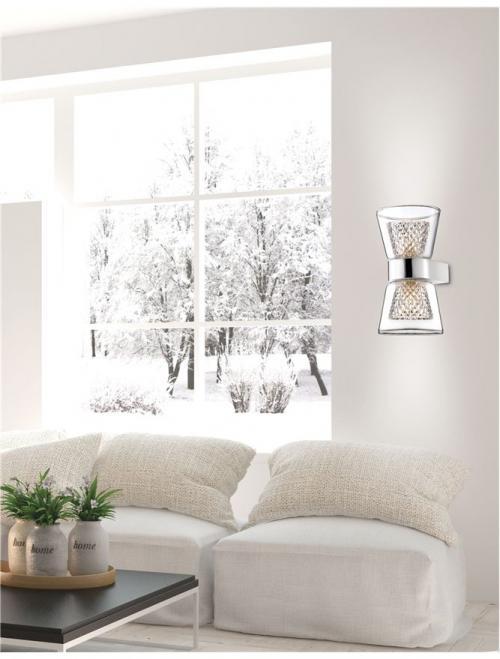 NOVA LUCE - Аплик BOCCALE 1300301312 G9 2x33 Watt IP20 Bulb Included D: 12 W: 12.6 H: 18 cm