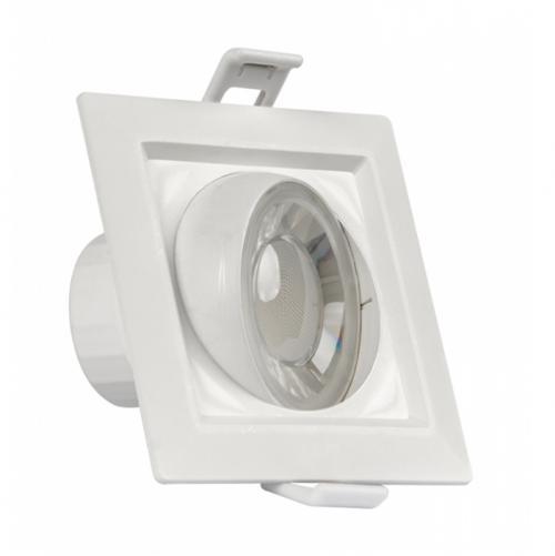 ULTRALUX - PLS842 LED луна за вграждане подвижна квадрат 8W, 4200K, 220V, неутрална светлина, SMD2835