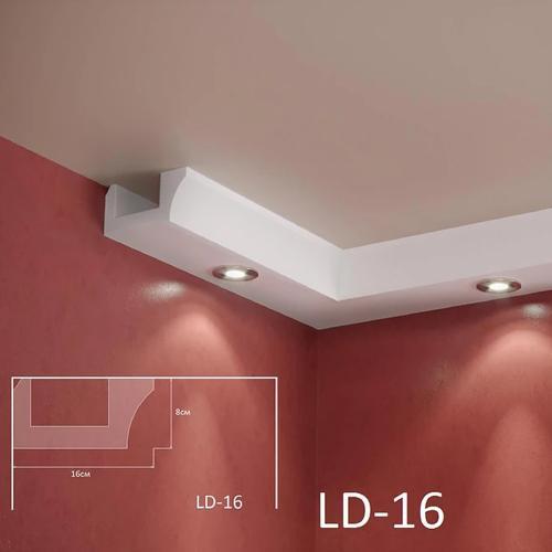 ADORN - Декоративен корниз за индиректно-осветление LD-16-2m 160х80 мм