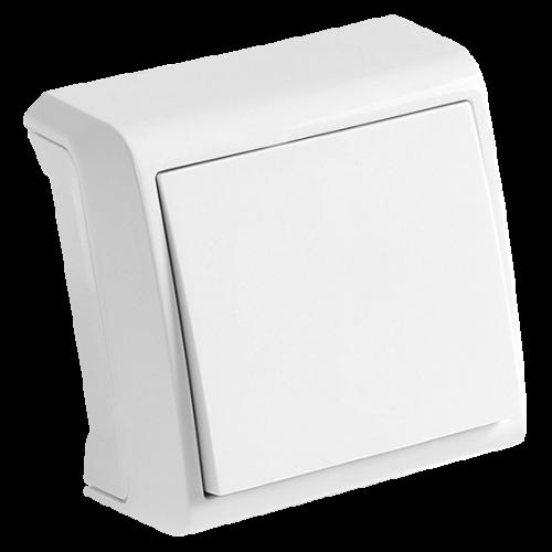 VIKO - Единичен ключ за външен монтаж Vera бял