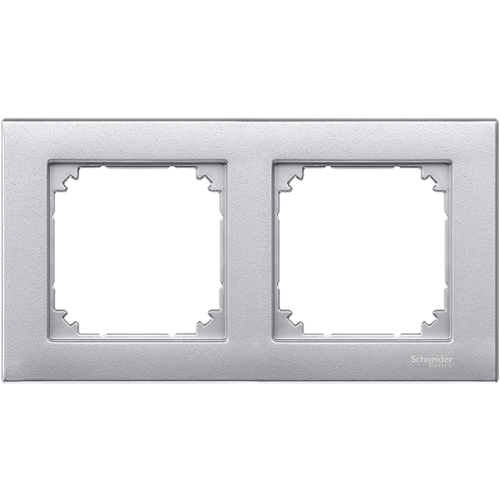 SCHNEIDER ELECTRIC - MTN486260 рамка двойна алуминий M-Plan Merten