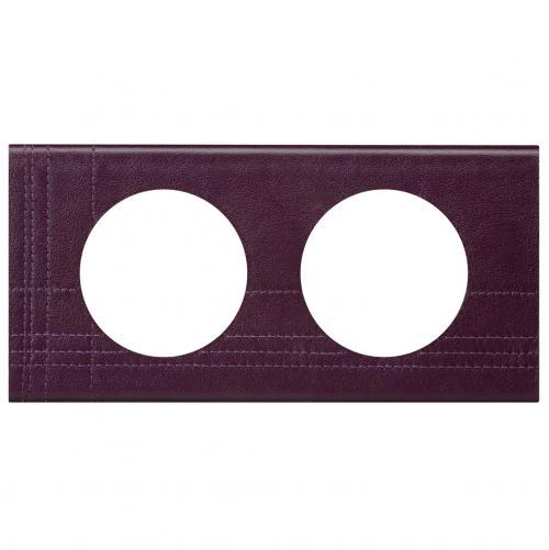 LEGRAND - Двойна рамка Celiane 69442 кожа лила