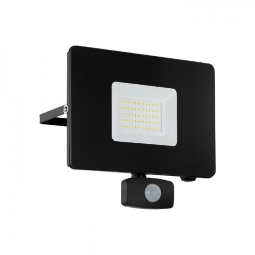 EGLO -  ВЛ ПРОЖЕКТОР LED 50W 4800lm 5000K със сензор черно 'FAEDO 3' 97463
