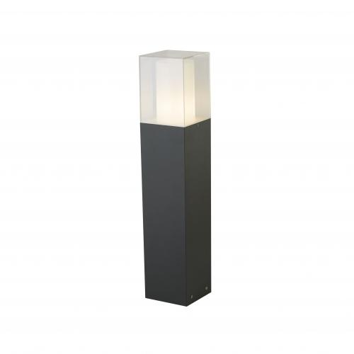 SEARCHLIGHT -  2582-450GY   Led Outdoor   Square Outdoor Post, 450cm, Dark Grey/white