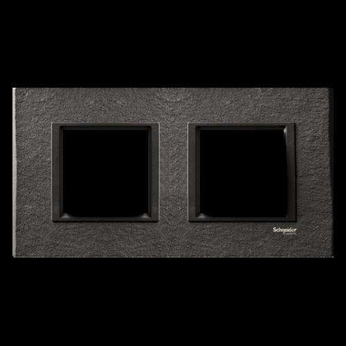 SCHNEIDER ELECTRIC - MGU68.004.7Z1 декоративна рамка двойна камък/въглен Unica Class