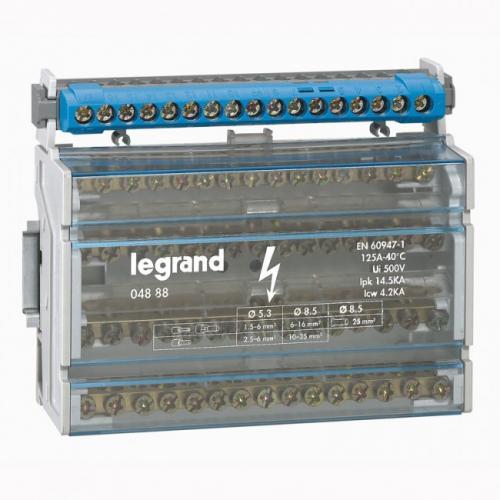 LEGRAND - Разпределителен клемен блок 125А 4P 8 модула 4888
