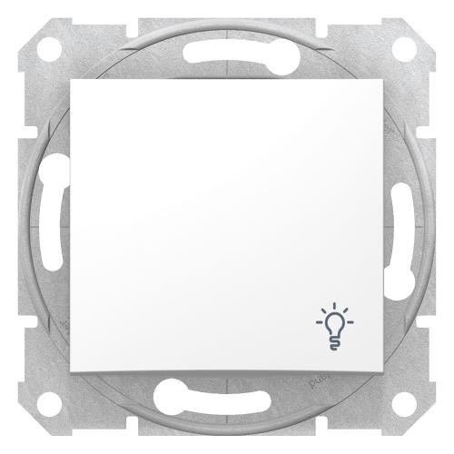 SCHNEIDER ELECTRIC - SDN0900121 Sedna - 1pole pushbutton - 10A light symbol, without frame white