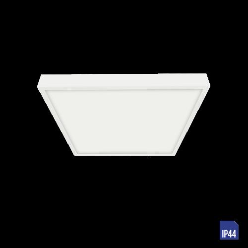 LUXERA - LED панел 6W квадрат влагозащитен IP44 външен монтаж LENYS  49038 Бял