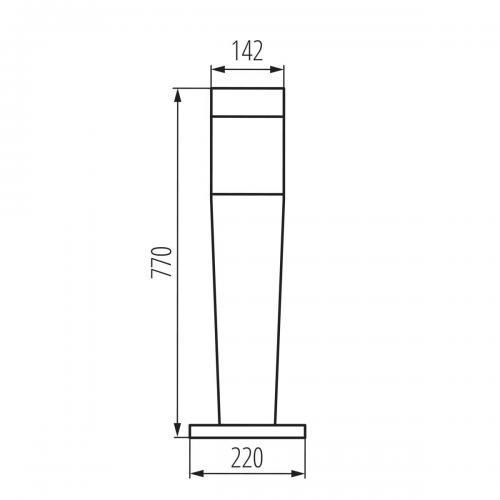 KANLUX - Градински стълб INVO OP 77-L-GR (29172)
