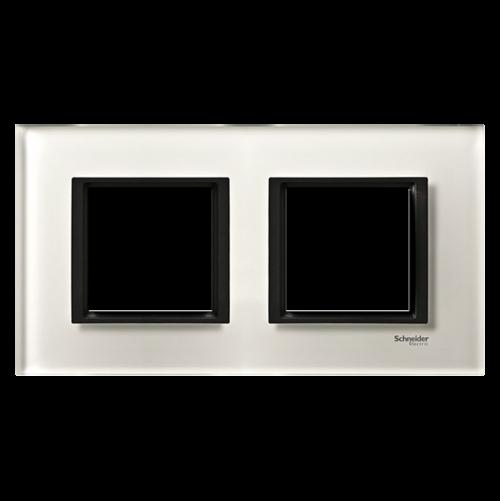 SCHNEIDER ELECTRIC - MGU68.004.7C2 декоративна рамка двойна кристално бяло Unica Class