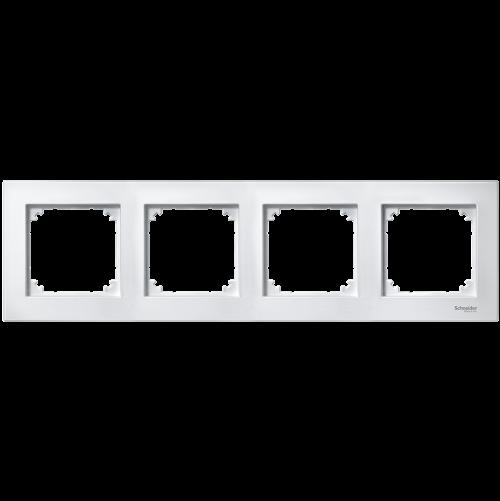 SCHNEIDER ELECTRIC - MTN515425 рамка четворна активно бяла M-Plan Merten