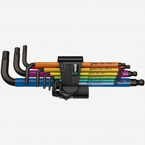 WERA - Wera 073593 Multicolor Hex + Ball End Hex Metric L-key Clip Set (Retail Package)